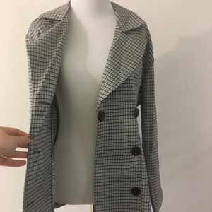 Vintage double breast plaid jacket / blazer